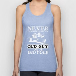 Old men guy bicycle gift idea cycling Unisex Tank Top