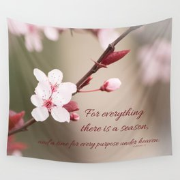 Plum's Promise Wall Tapestry