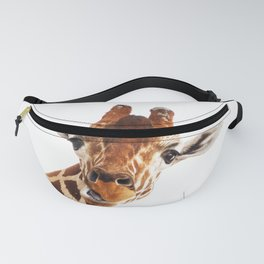 Silly Giraffe // Wild Animal Portrait Cute Zoo Safari Madagascar Wildlife Nursery Ideas Decor Fanny Pack