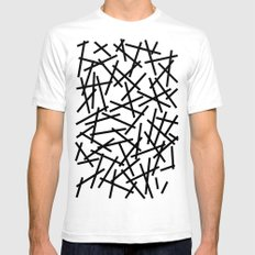 Kerpluk Black on White SMALL Mens Fitted Tee White