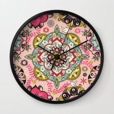 Mandala color pattern Wall Clock