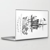 larry david Laptop & iPad Skins featuring Larry tattooes by Drawpassionn