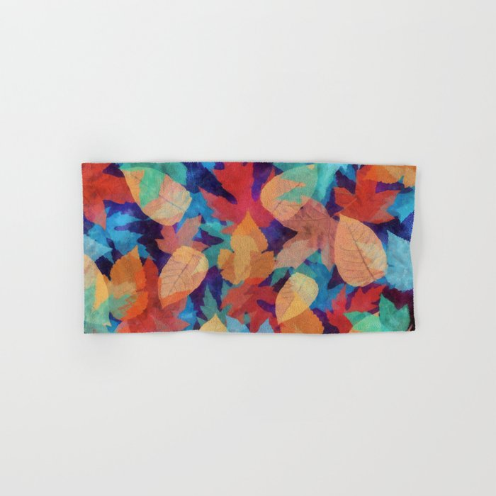 Colorful fallen leaves Hand & Bath Towel