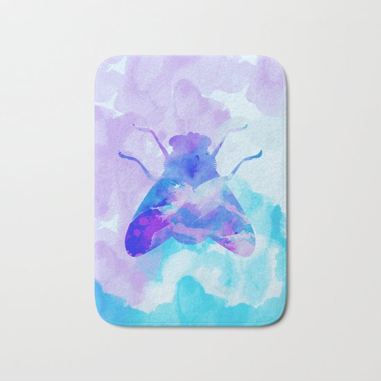 Abstract Fly Bath Mat