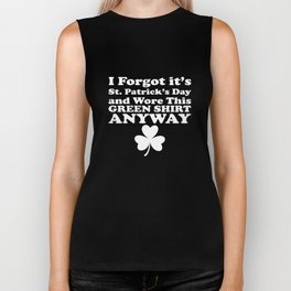 It's St Patricks Day And Wore This Green Clover Biker Tank