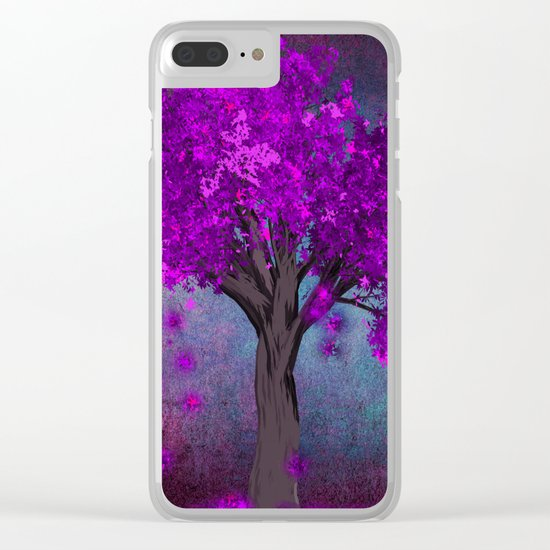 TREE OF PINK Clear iPhone Case