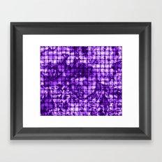 Purple Satin Weave Effect Framed Art Print