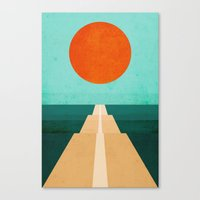 road Canvas Prints featuring The Road Less Traveled by Picomodi