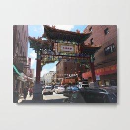 Philadelphia Chinatown Arch Metal Print