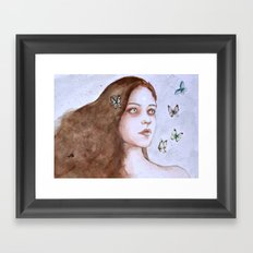 Tears and butterflies Framed Art Print