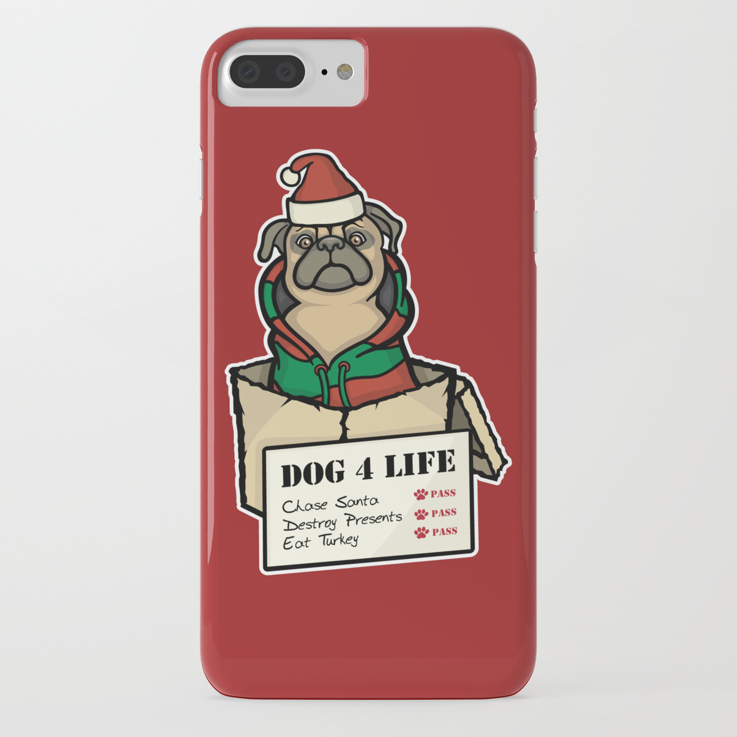 sneakers for cheap df6af c1e1f Dog 4 Life - Christmas iPhone Case