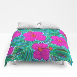 Hawaii Dreams Hibiscus Print Comforters