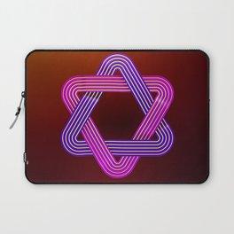 Neon star of david Laptop Sleeve
