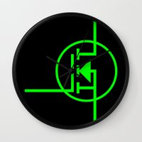 transistor Wall Clocks featuring N-TYPE MOSFET by EEShirts