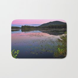 Shawnee Peak from Moose Pond in Maine (2) Bath Mat