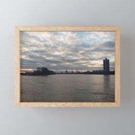 Sky above Rhein Framed Mini Art Print