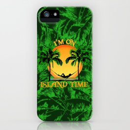 Palm Trees Tropical Island Time iPhone Case