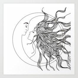 Sun and Moon II Art Print