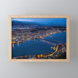 Panoramic Tromso Framed Mini Art Print