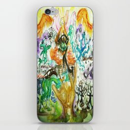 The All Seeing Eye Pyramid Watercolor Painting iPhone Skin