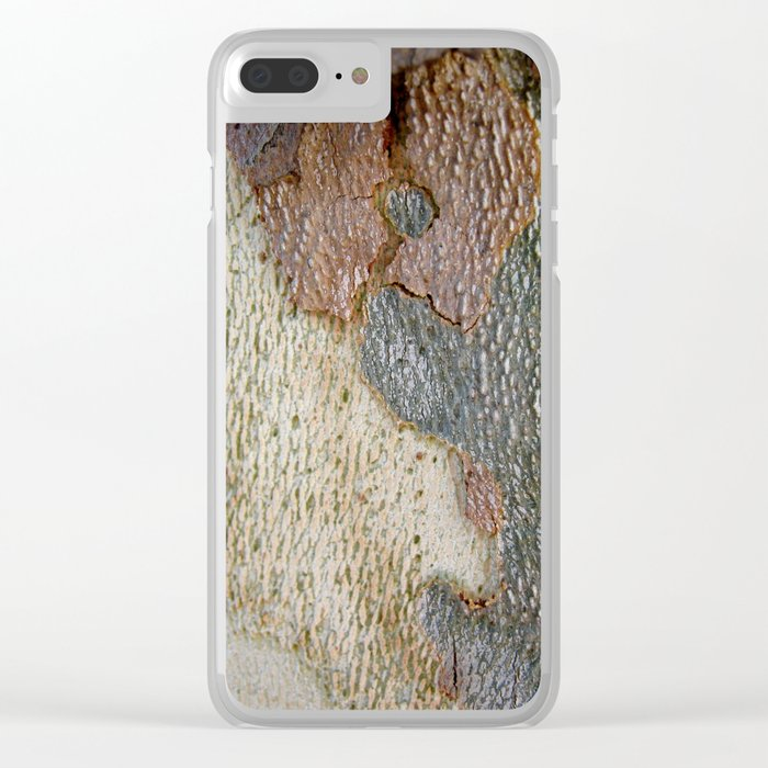 Tree bark 1 natural pattern Clear iPhone Case