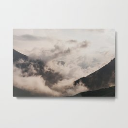 Dreamy sunrise in the clouds | Colombia | Travel photography | Fine art photo print  Metal Print