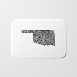 Typographic Oklahoma Bath Mat