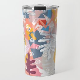Pink fern sorbet Travel Mug