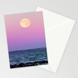 Full Moon on Blue Hour Stationery Cards