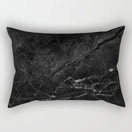 Black abstract natural marble pattern - beautiful home decor Rectangular Pillow