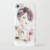cup iPhone & iPod Cases featuring cup by tatiana-teni