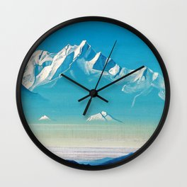 Nicholas Roerich - Mount Of Five Treasures - Digital Remastered Edition Wall Clock
