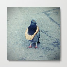 HipHop Dove Wait Metal Print