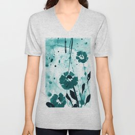 Dreaming In Blue 100r by Kathy Morton Stanion Unisex V-Neck