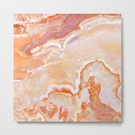 Peach Onyx Marble Metal Print