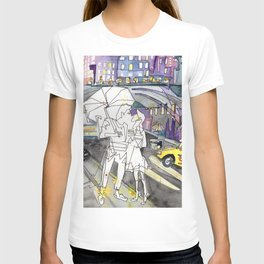 Kissing in New York City T-shirt