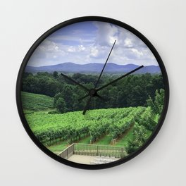 In Wine Country Wall Clock