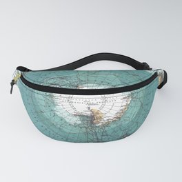 Antarctica Vintage map Fanny Pack