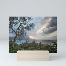 Sunset Over Hanalei Bay from St Regis Mini Art Print