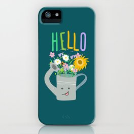 Happy Day- Watering Can iPhone Case