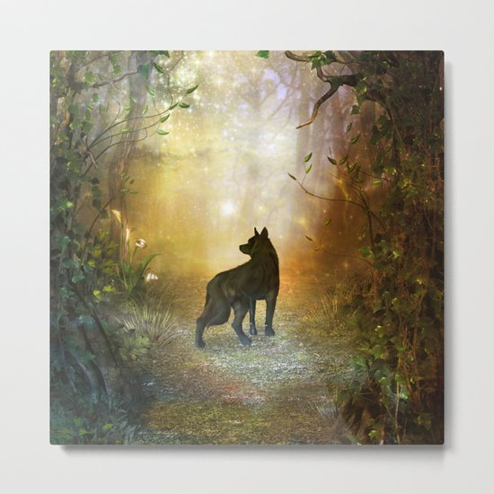 The lonely wolf Metal Print