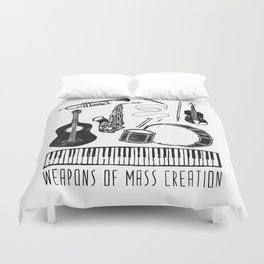 Weapons Of Mass Creation - Music Duvet Cover