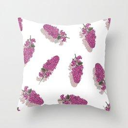 Lilac Maze Rose Throw Pillow