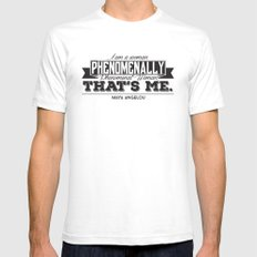 Phenomenal! White SMALL Mens Fitted Tee