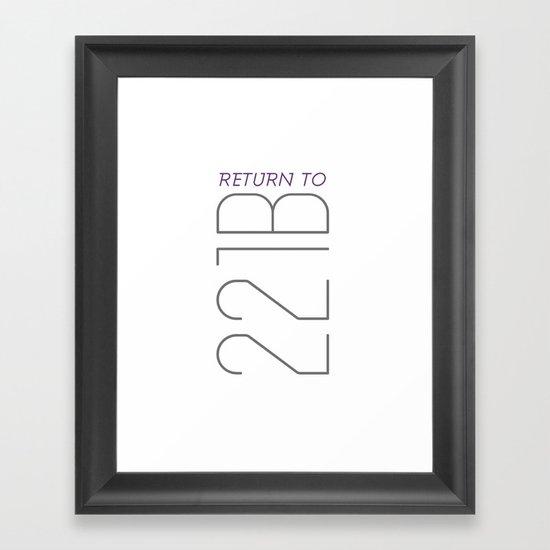 Return to 221B Framed Art Print