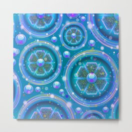 Space Age Abstract Circles Metal Print