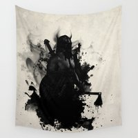 viking Wall Tapestries featuring Viking by Nicklas Gustafsson