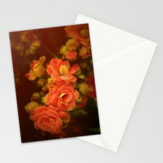 romance flowers Stationery Cards