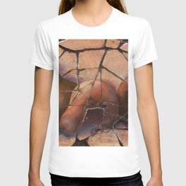 The Pears Fresco With a Crackle Finish #Society6 T-shirt