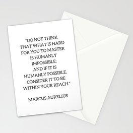 Stoic Philosophy Quote - Marcus Aurelius - MASTERY Stationery Cards
